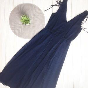 💋 Gal Meets Glam Navy Flared Midi Dress - 0